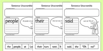 Phase 5 Space Wars Sentence Unscramble - phase 5, space wars, star wars, sentence, unscramble