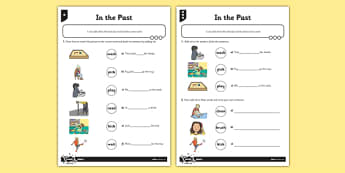 In the Past Differentiated Activity Sheet Pack - GPS, suffix, ed, verb, grammar, spelling, worksheet