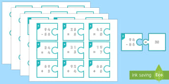 Mental Calculation One and Two-Digit Numbers Matching Cards - Addition, Subtraction, Multiplication and Division, mental calculation, one digit, two digit, adding
