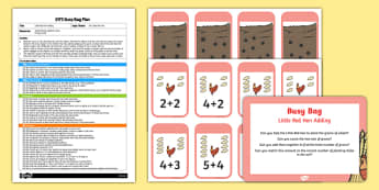 EYFS The Little Red Hen Adding Busy Bag Plan and Resource Pack