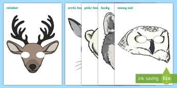 Polar Regions Role Play Masks - Polar Regions, polar region, region, polar, ice, role play mask, role play, masks, North Pole, South Pole, Arctic, Antarctic, polar bear, penguin, glacier, iceberg, seal, husky, northern lights, igloo, Inuit, snow
