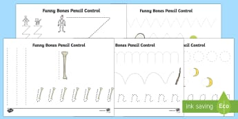 Funny Bones Pencil Control Activity Sheets