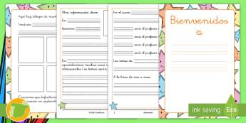 Cuadernillo: Bienvenidos - cuadernillo, bienvenida, bienvenidos, escritura, transición, NEE, cambio de curso, curso nuevo, vue