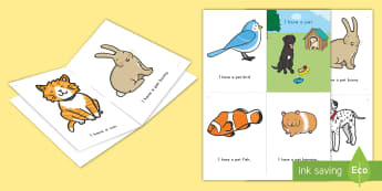 Pets Emergent Reader - pets, family pet, emergent reader, pet emergent reader, sight words, pet vocabulary, my pet