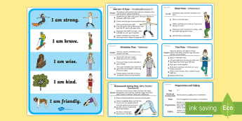 Self Esteem Yoga Poses Activity