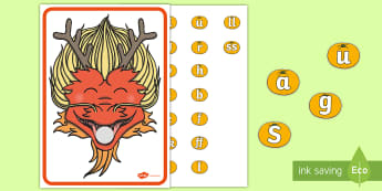 Feed a Chinese Dragon Phase 2 Phonics Activity - Chinese New Year, EYFS, Early Years, kS1, Key Stage 1, Phonics, letters and sounds, letter sounds.