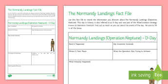 Ks3 creative writing teaching resources page 7 the normandy landings fact file activity sheet ibookread Download