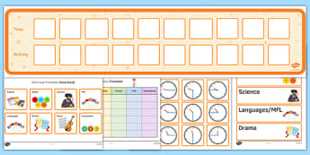 KS3 Visual Timetable Resource Pack - ks3, visual, timetable