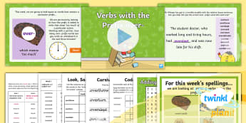 PlanIt Spelling Year 5 Term 3B W3: Adding the Verb Prefix 'over-' Spelling Pack - Spellings Year 5, Y5, spelling, spag, gps, week 3, w3, over, verb prefix, prefixes, lists,
