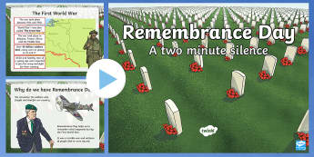 Remembrance Day Two Minute Silence PowerPoint - remembrance sunday, remembrance day, two minute silence, powerpoint,Remebrance Day,diwrnod y cofio,