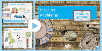Measure at Home Measure Problems GCSE Grades 1-3 PowerPoint