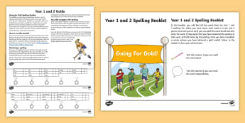 Going for Gold Year 1 and 2 Common Exception Words Spelling Checklist - Spelling, Year 3, Year 4, National Curriculum List, Spelling checklist, statutory spellings, common