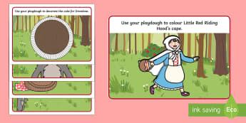 Little Red Riding Hood Playdough Mats - little red riding hood, playdough mat, play doh mat, playdoh mat, play dough, fine motor skills, art, art mat