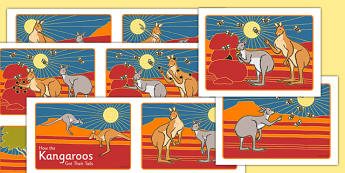 Aboriginal Dreamtime How the Kangaroos Got Their Tails Story Sequencing Cards - australia, Science, Year 3, Living, Non-Living, Characteristics, Poster, Australian Curriculum
