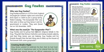 KS1 Guy Fawkes Differentiated Fact File