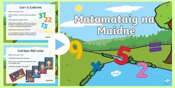 Taisbeanadh PowerPoint le Deuchainnean is Geamannan Matamataig na Maidne - Maths, Morning,Matamataig,Madainn,Maidne,PowerPoint,Geamannan,Deuchainnean,Gàidhlig,Games,Gaelic,Fo