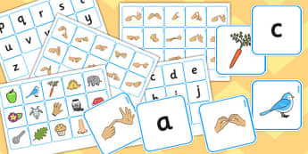 British Sign Language Alphabet Matching Pack - alphabet, match