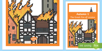 The Great Fire of London Cover Page Autumn 1 - the great fire of london, cover page, autumn 1