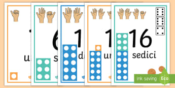 La linea dei numeri 0 20 supporto visivo Poster - contare, fino, a , 20, supporto, visivo, numeri, matematica, italiano, italian, linea, monete, somma