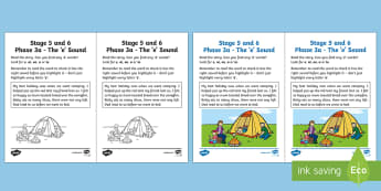 Northern Ireland Linguistic Phonics Stage 5 and 6 Phase 3a, 'e' Sound Worksheet / Activity Sheet - Linguistic Phonics, Phase 3a, 'e' sound, investigation, sound search, Northern Ireland, worksheet