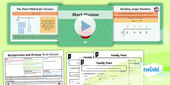 PlanIt Maths Y4 Multiplication and Division Lesson Pack Written Methods for Division (1)