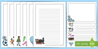 Father's Day Page Border Pack - English / Greek