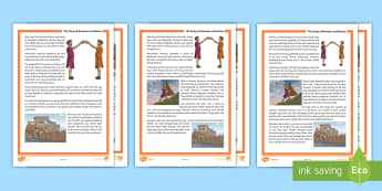 The Story of Romulus and Remus Differentiated Differentiated Reading Comprehension Activity - myth, legend, ancient, Rome, italy, roman, history, wolf