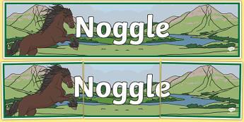Noggle Scottish Legend Display Banner
