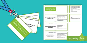 Lanyard Sized Year Four Number and Place Value Objectives Cards - year 4, y4, year four, maths, objectives, number and place value, place value, four-digit numbers, a