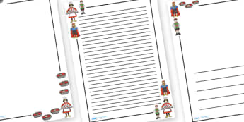 The Queen of Hearts Page Borders - The Queen of Hearts, page border, border, writing template, frame, nursery rhyme, rhyme, rhyming, nursery rhyme story, nursery rhymes, Queen of Hearts resources