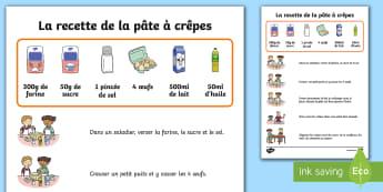 Shrove Tuesday Pancake Recipe Poster - festivities, celebration, events, France, World, festival, pancakes