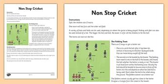 Non-Stop Cricket Instructions - non-stop, cricket, instructions, non stop