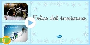 * NEW * Fotos del invierno Presentación  - invernal, powerpoint, presentación, alumnos, primaria,niños, estudiantes, clase, aula, profesores,
