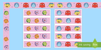 Mood Monsters Display Borders - EYFS, Early Years, KS1, Key Stage 1, Display, Mood Monsters, All About Me, Ourselves, Emotions, Feel