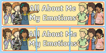 All About Me: My Emotions Display Banner