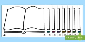Editable Open Book - book, reading, read, literacy, english