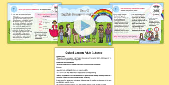 Year 2 Grammar and Punctuation Test 1 Guided PowerPoint - KS1 SPaG Assessment Guided Lesson PowerPoints, SPaG, punctuation, grammar, GPS, assess, review, test