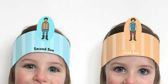 The Farmer and His Sons Role Play Headband - roleplay, props
