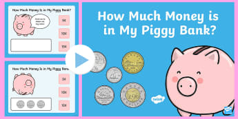 How Much Money is in My Piggy Bank PowerPoint Game - Canada KS1 Maths Resource Movement, math game, math, maths, canadian currency, money, canadian money