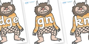 Silent Letters on Wild Thing (1) to Support Teaching on Where the Wild Things Are - Silent Letters, silent letter, letter blend, consonant, consonants, digraph, trigraph, A-Z letters, literacy, alphabet, letters, alternative sounds