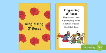 Ring A Ring O' Roses Nursery Rhyme IKEA Tolsby Frame - baby signing, baby sign language, communicate with baby, pre verbal baby, tiny talk, sing and sign,