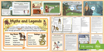 Myths and Legends -English Resources,myths, legends, ks2, story, english, literacy, fantasy, folktale, hist