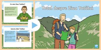 ET Totul despre Ziua Tatălui PowerPoint - ziua tatălui, tata, citire, lectură, activități, sărbători, zile speciale, ziua familiei, fami