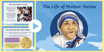 KS2 Mother Teresa PowerPoint - KS2, Mother Teresa, significant individuals, RE, historical figures, PowerPoint, Christianity, saint