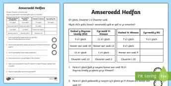 Gweithgaredd Amseroedd Hedfan AMSER CA1