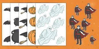 Halloween Ordenar tamaños