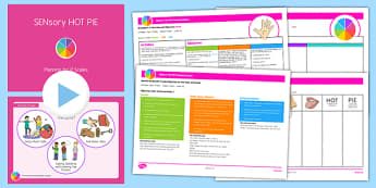 P Scales Planning SENsory HOT PIE Pack - SEN, special needs, P scales, planning, objectives