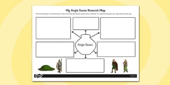 Anglo-Saxon Themed Research Map - anglo-saxon, research, map