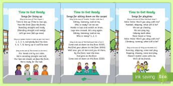 Daily Routines Song Lyrics - EYFS, KS1, behaviour, manage, management, strategy, strategies, calm, environment, control, focus, s