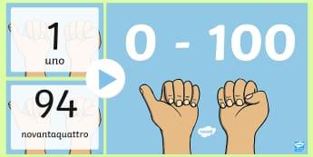 Contare con i numeri e le parole Presentazione Powerpoint - numeri, contare, parole, italiano, italian, 0, a ,100, presentazione, power, point, powerpoint, mate